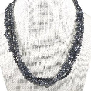 Silpada Black Hematite Multi Strand Necklace NEW